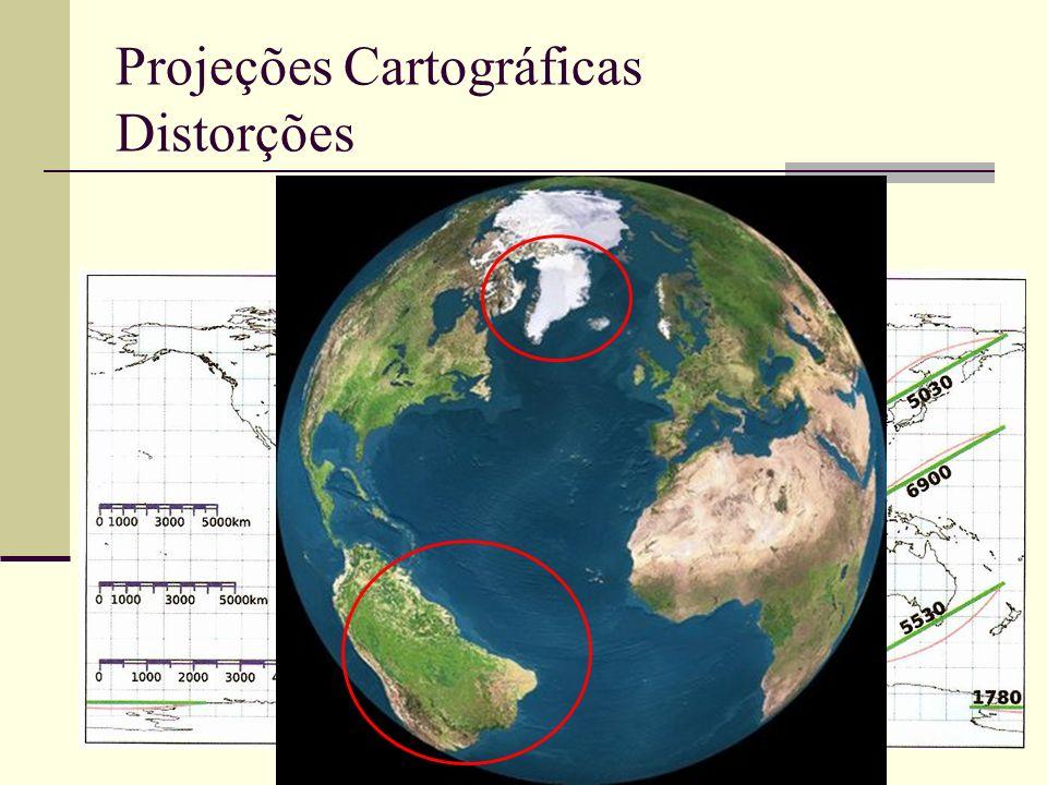Projeções Cartográficas Distorções