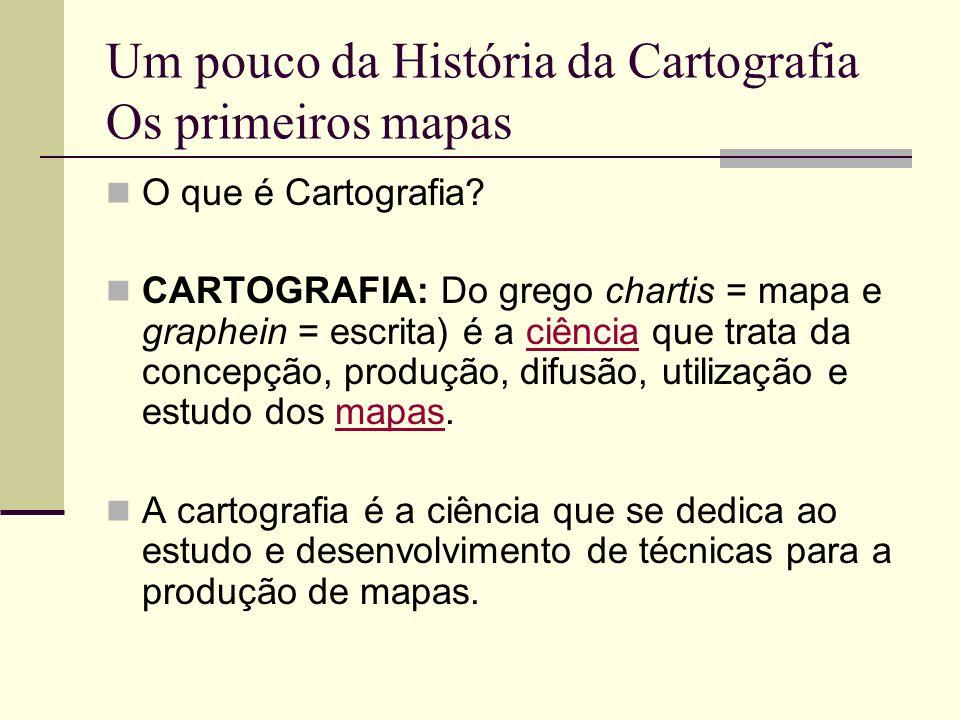 Um pouco da História da Cartografia Os primeiros mapas
