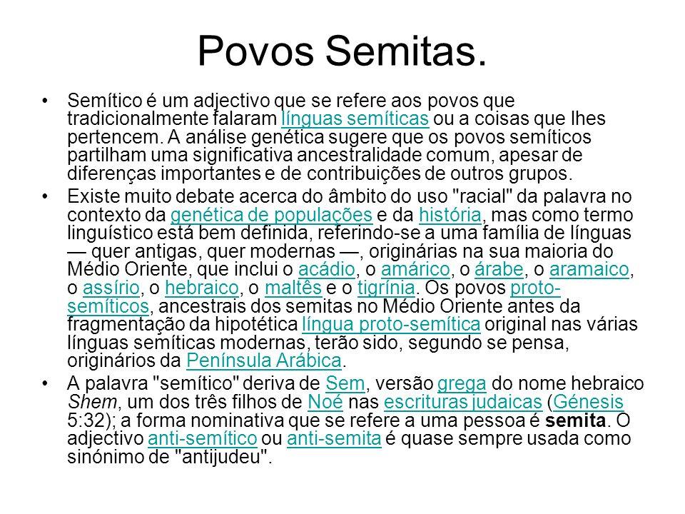 Povos Semitas.