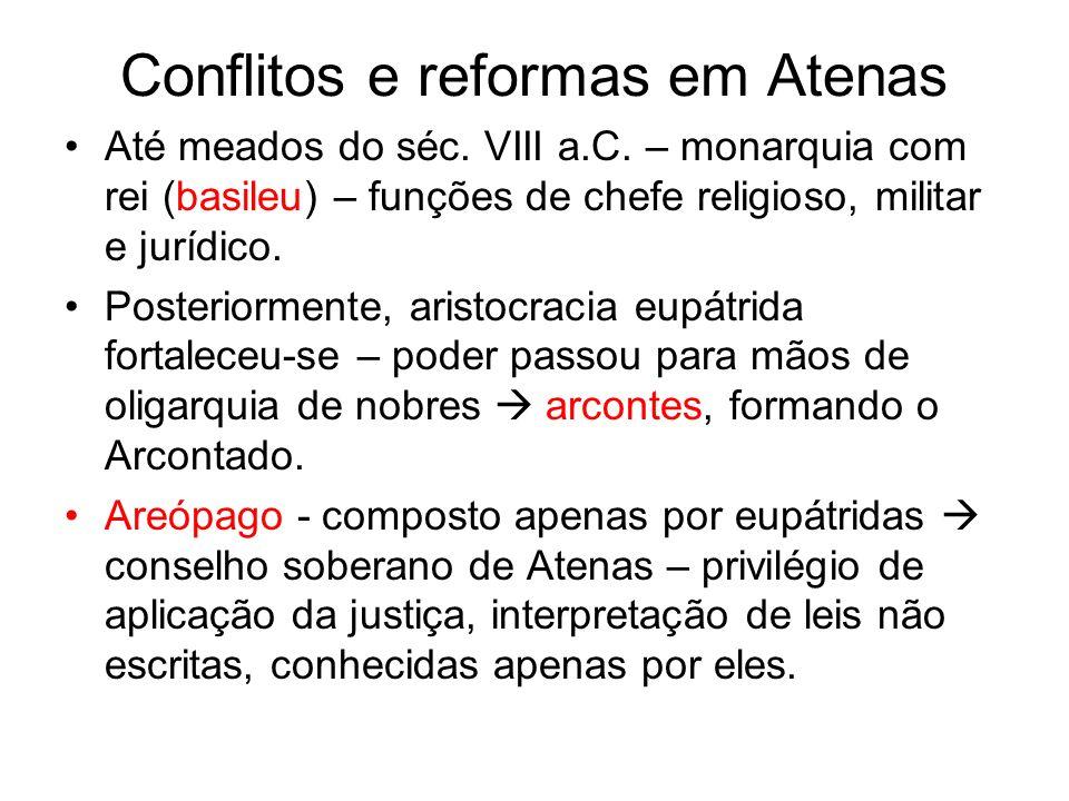Conflitos e reformas em Atenas