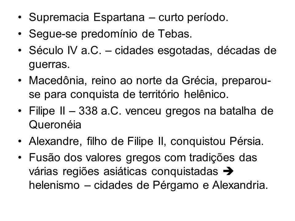 Supremacia Espartana – curto período.