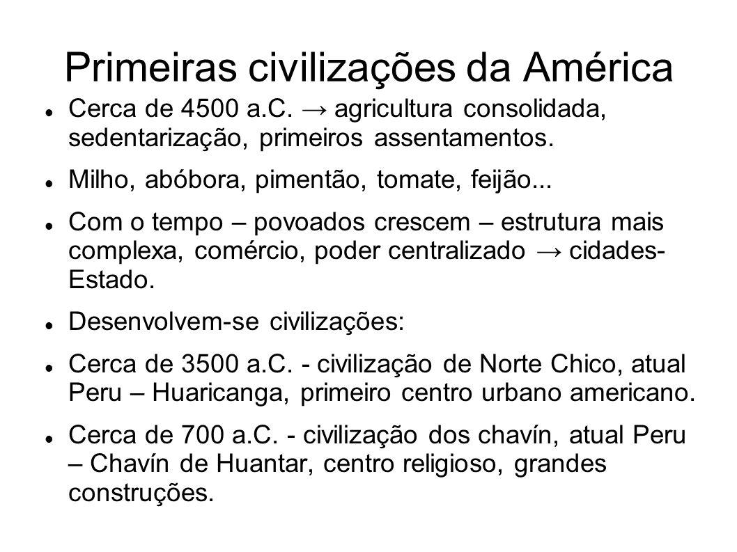 Primeiras civilizações da América