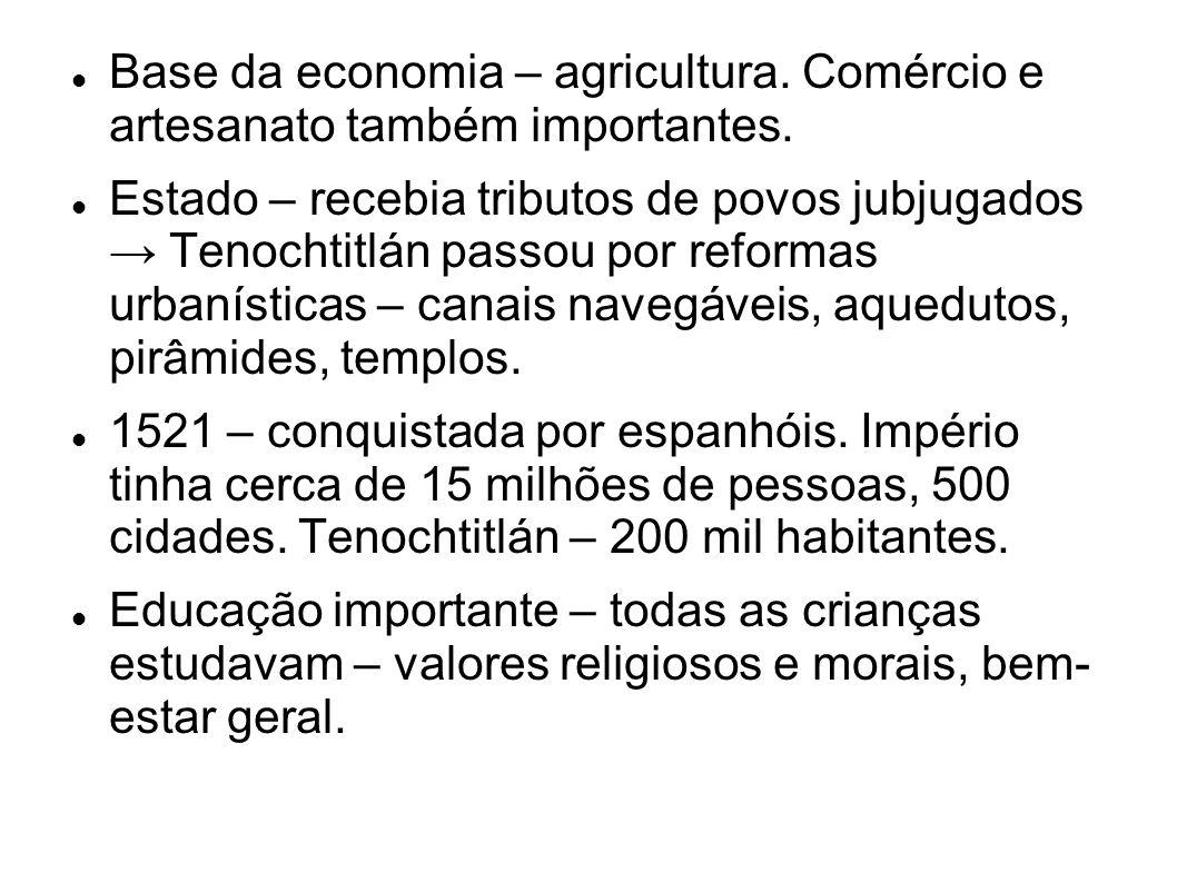 Base da economia – agricultura