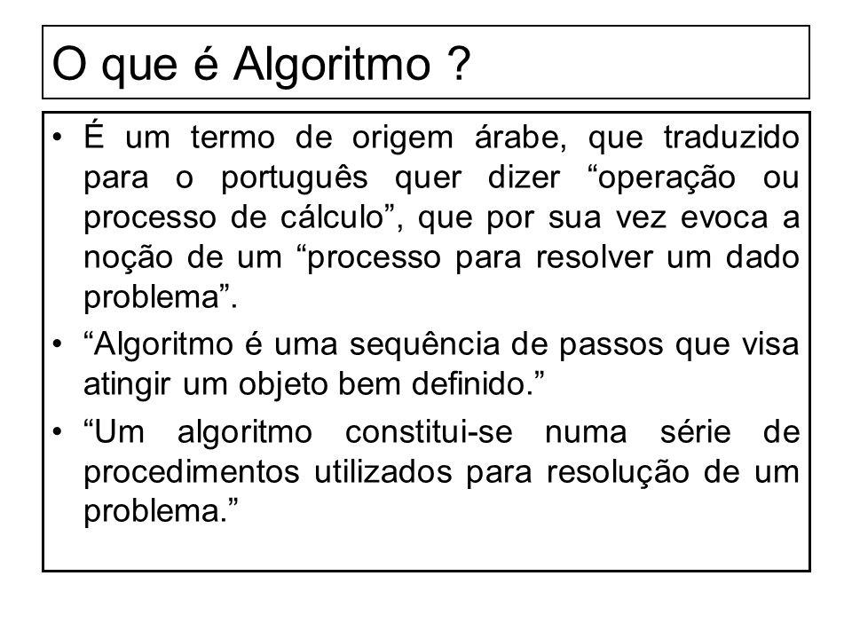 O que é Algoritmo