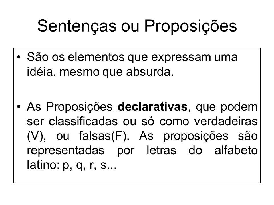 Sentenças ou Proposições