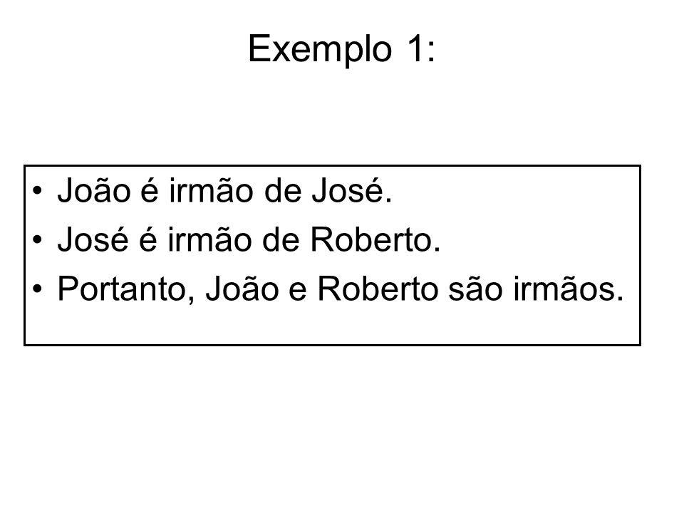 Exemplo 1: João é irmão de José. José é irmão de Roberto.