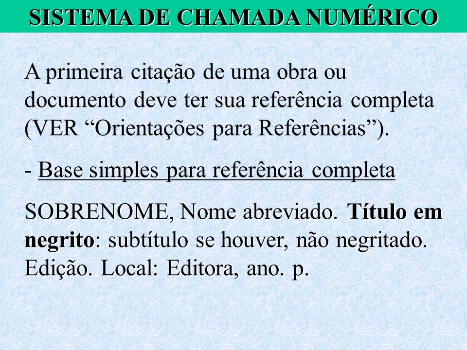 SISTEMA DE CHAMADA NUMÉRICO
