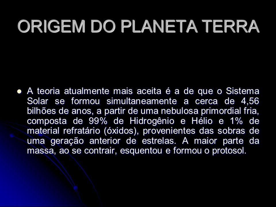ORIGEM DO PLANETA TERRA