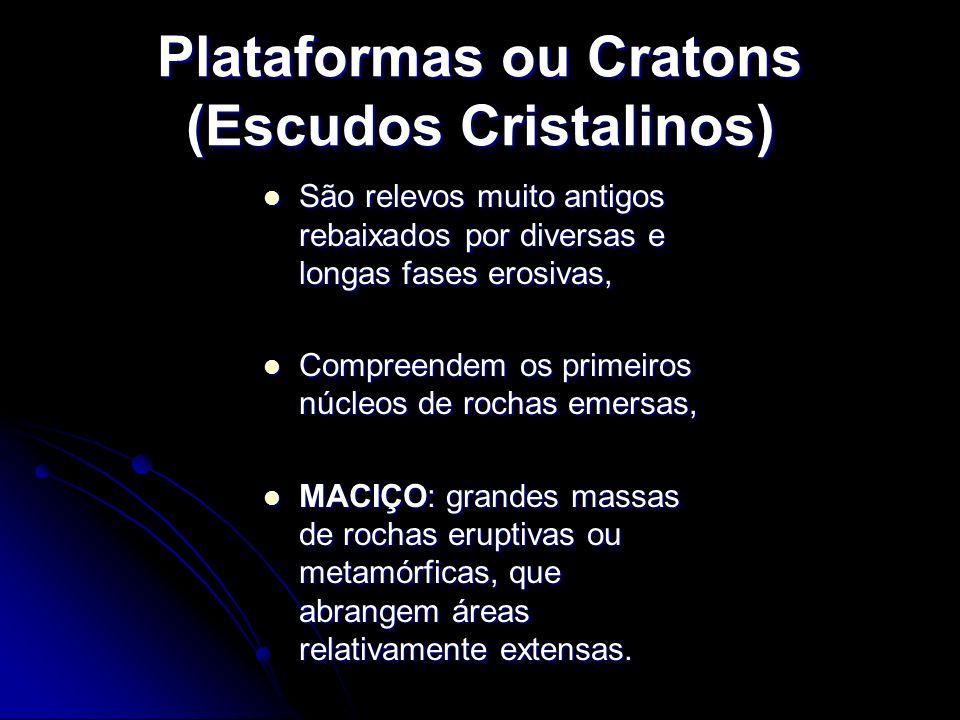 Plataformas ou Cratons (Escudos Cristalinos)