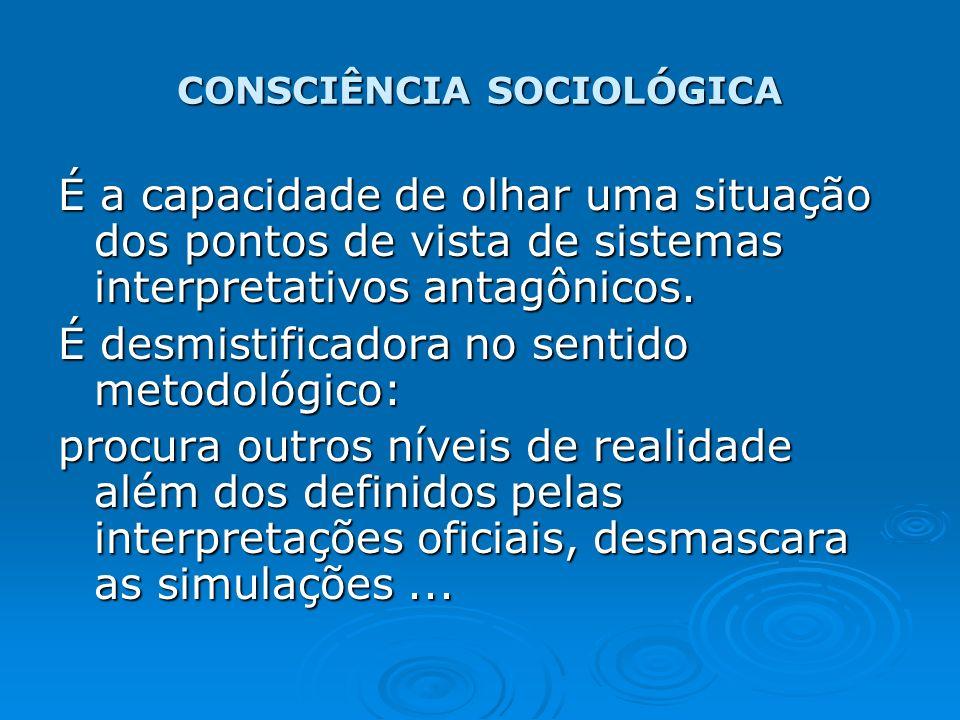CONSCIÊNCIA SOCIOLÓGICA