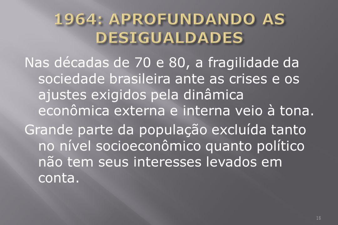 1964: APROFUNDANDO AS DESIGUALDADES