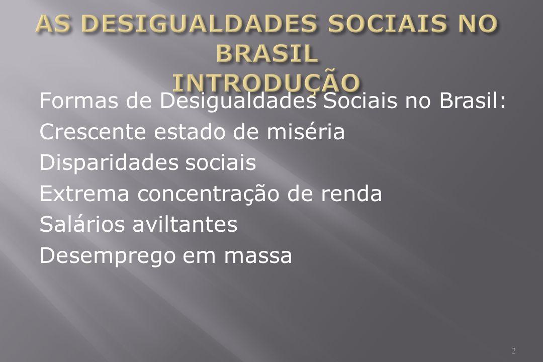 AS DESIGUALDADES SOCIAIS NO BRASIL INTRODUÇÃO