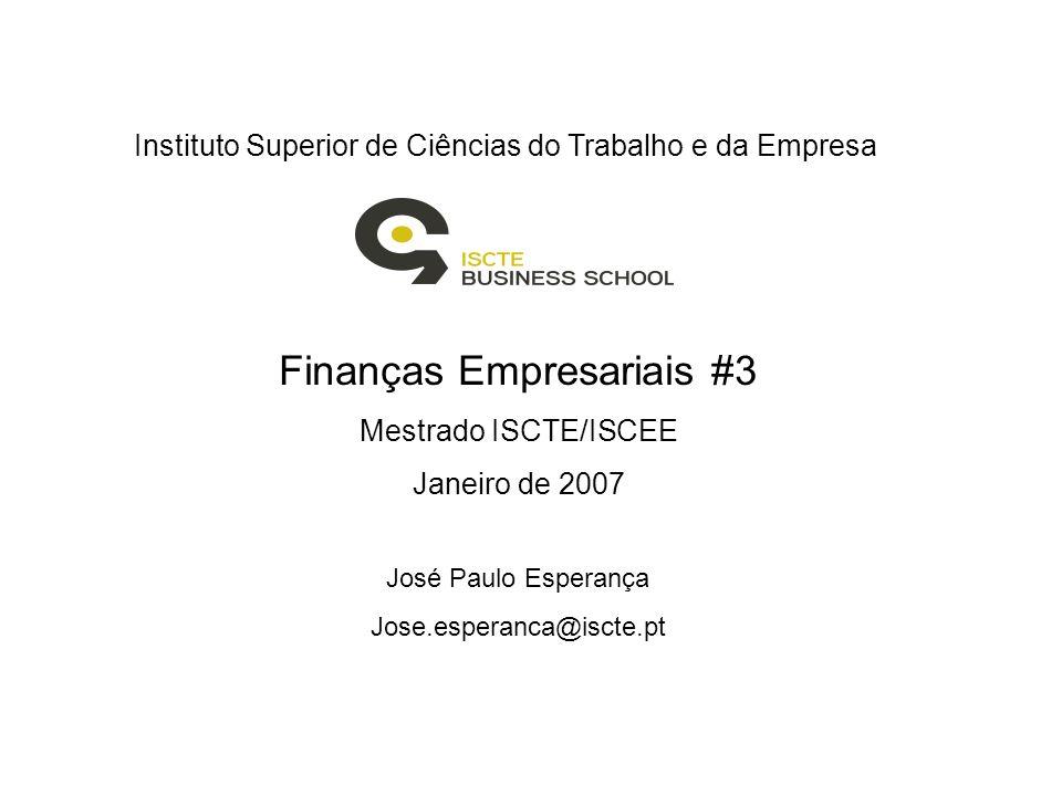 Finanças Empresariais #3