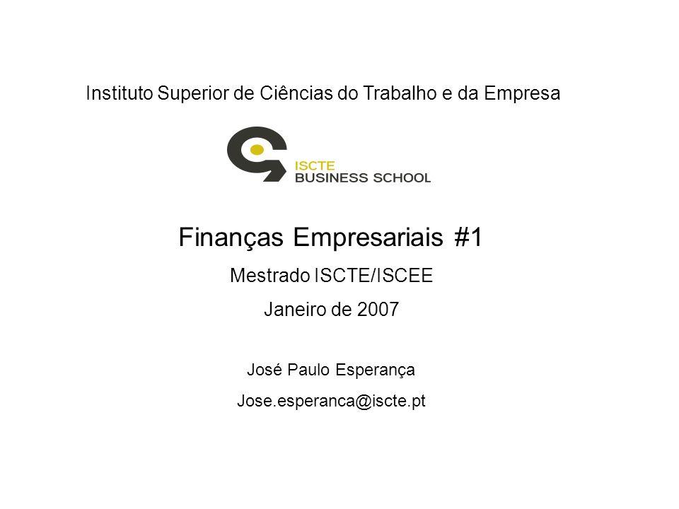 Finanças Empresariais #1