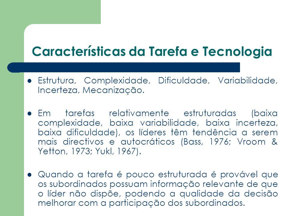 Características da Tarefa e Tecnologia