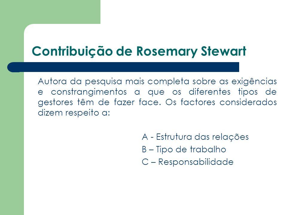 Contribuição de Rosemary Stewart