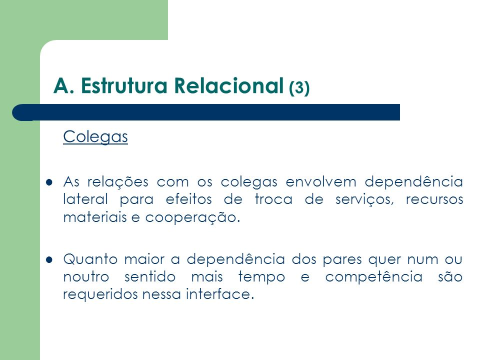 A. Estrutura Relacional (3)