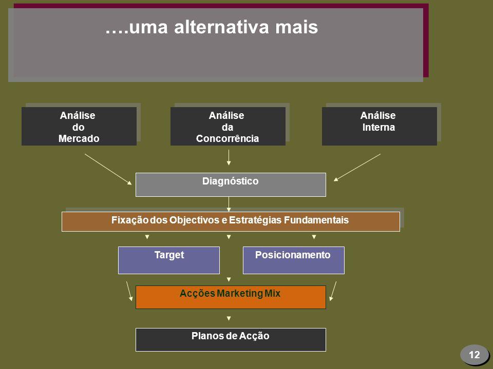 Fixação dos Objectivos e Estratégias Fundamentais