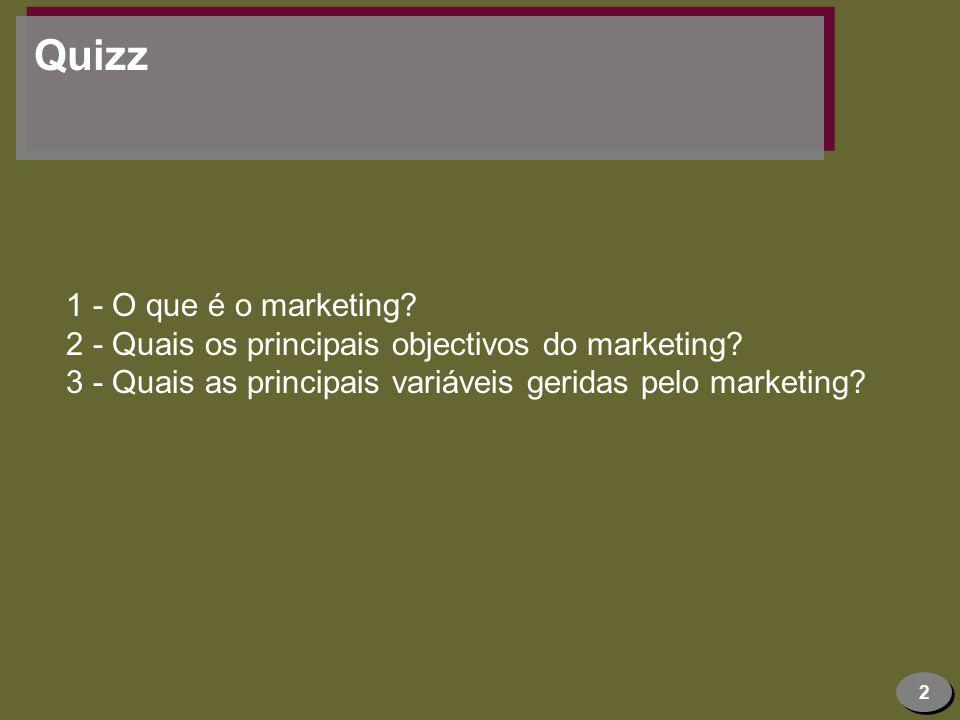 Quizz 1 - O que é o marketing