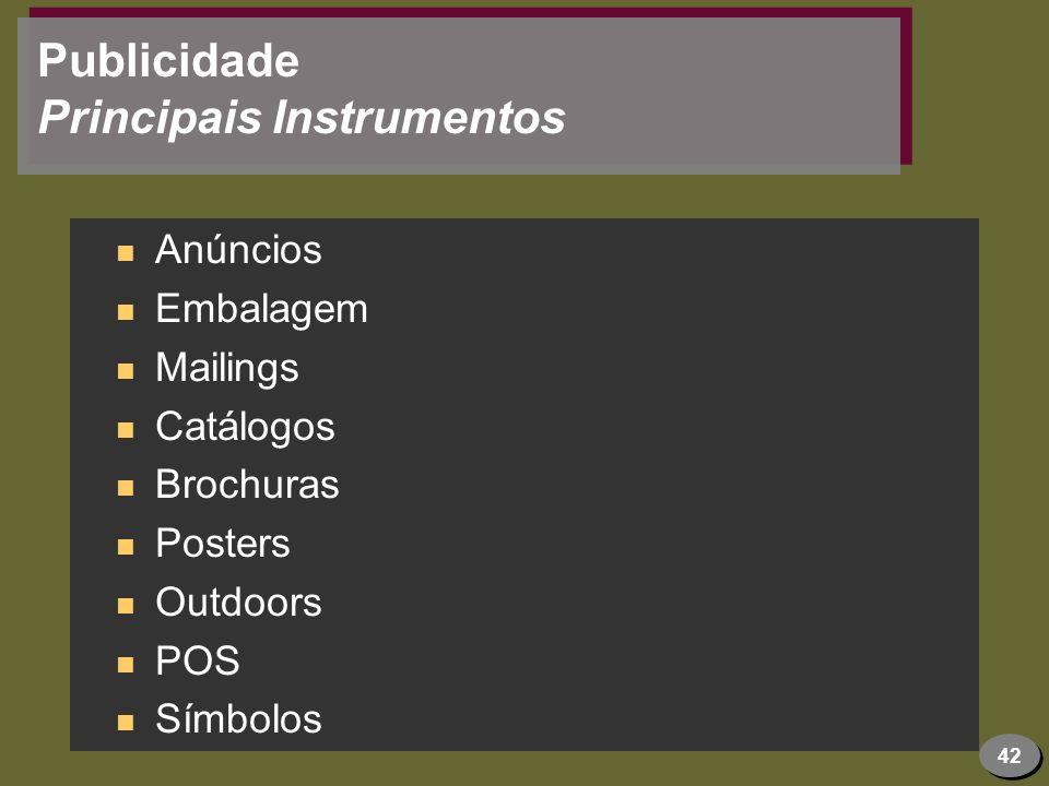Publicidade Principais Instrumentos
