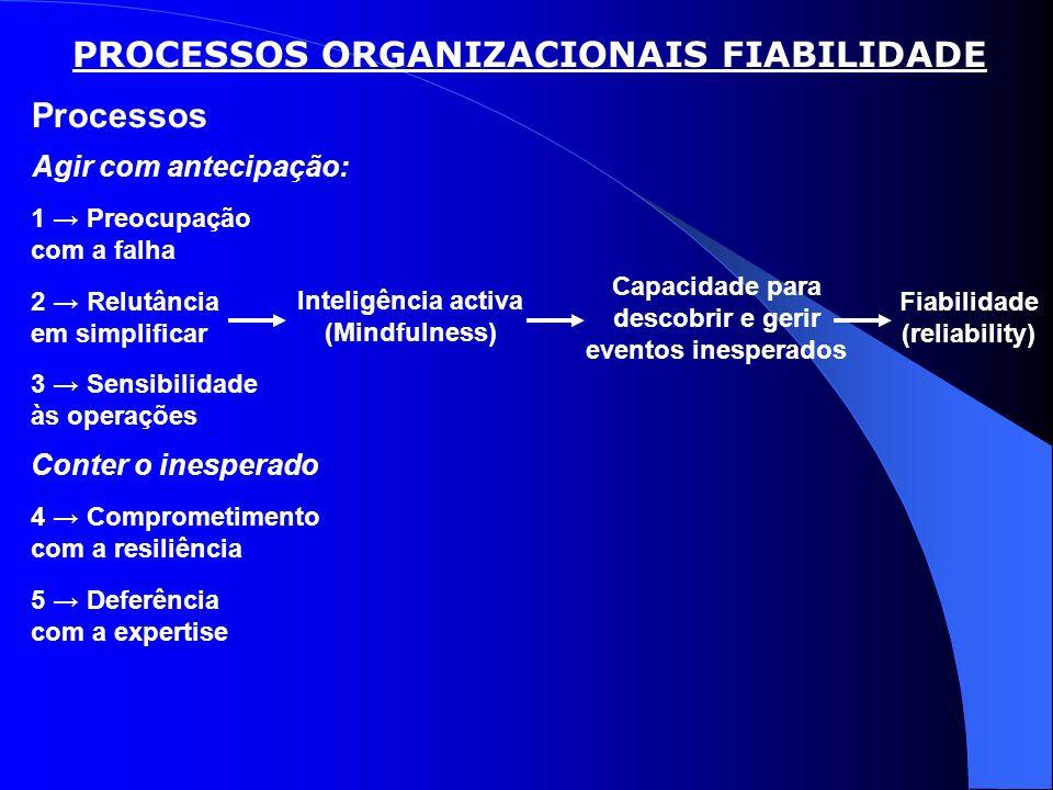 PROCESSOS ORGANIZACIONAIS FIABILIDADE