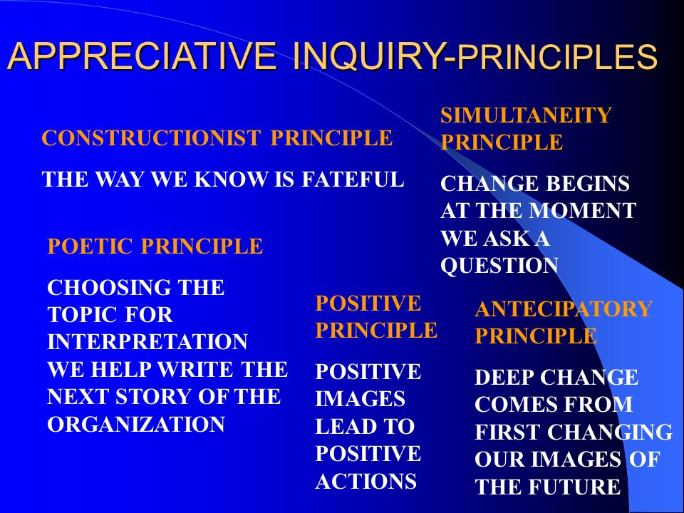 APPRECIATIVE INQUIRY-PRINCIPLES