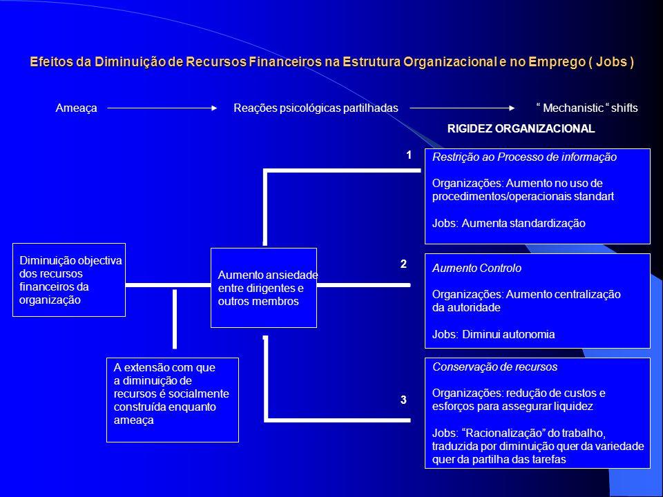 Efeitos da Diminuição de Recursos Financeiros na Estrutura Organizacional e no Emprego ( Jobs )