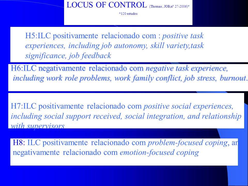 LOCUS OF CONTROL (Thomas , JOB,nº 27-2006)*