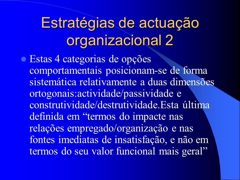 Estratégias de actuação organizacional 2