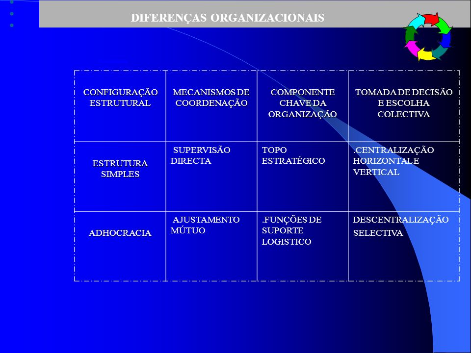 DIFERENÇAS ORGANIZACIONAIS