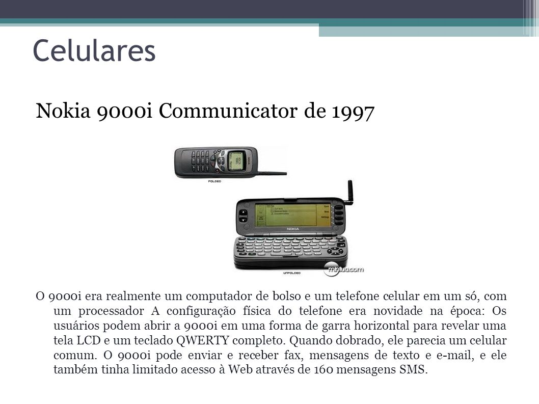 Celulares Nokia 9000i Communicator de 1997