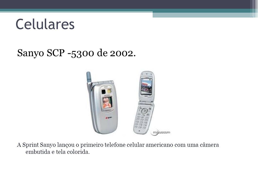 Celulares Sanyo SCP -5300 de 2002.