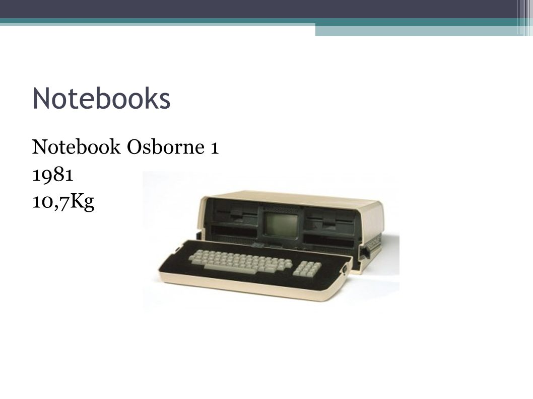 Notebooks Notebook Osborne 1 1981 10,7Kg