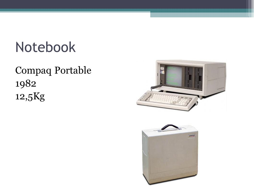 Notebook Compaq Portable 1982 12,5Kg