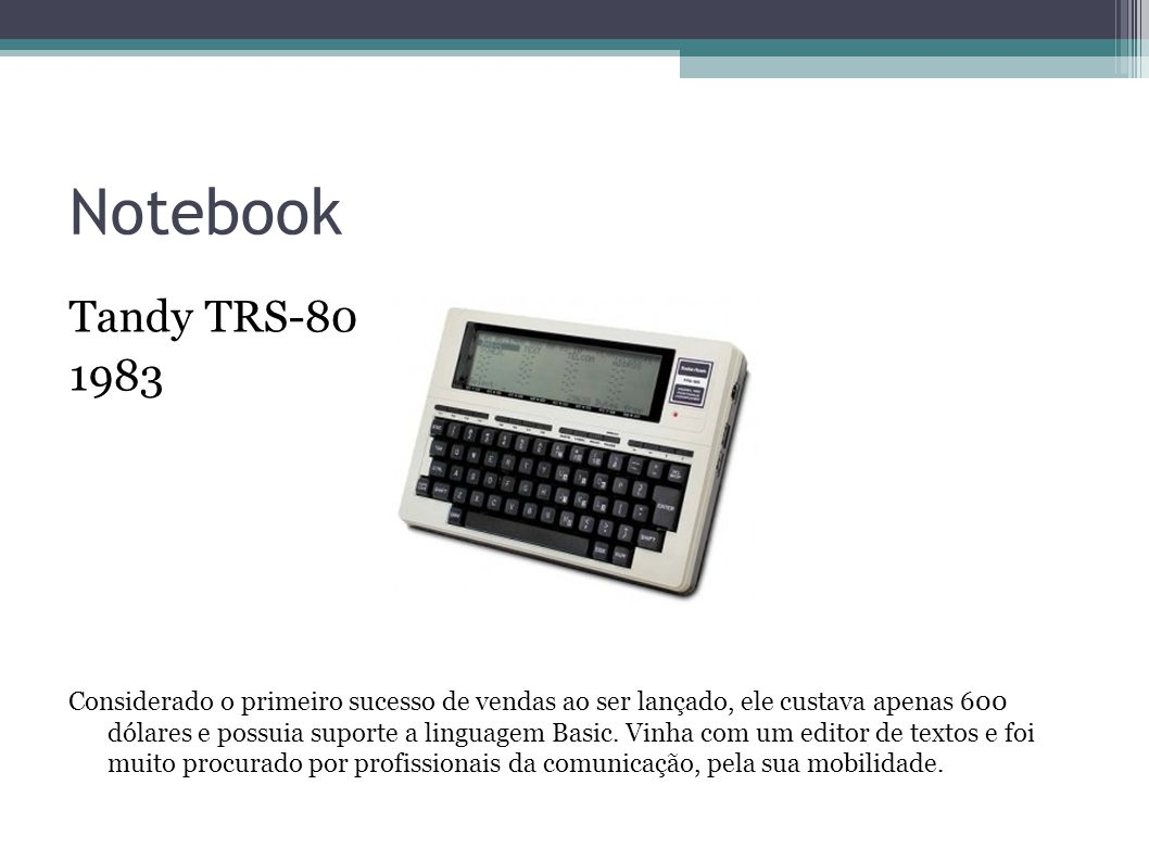 Notebook Tandy TRS-80. 1983.