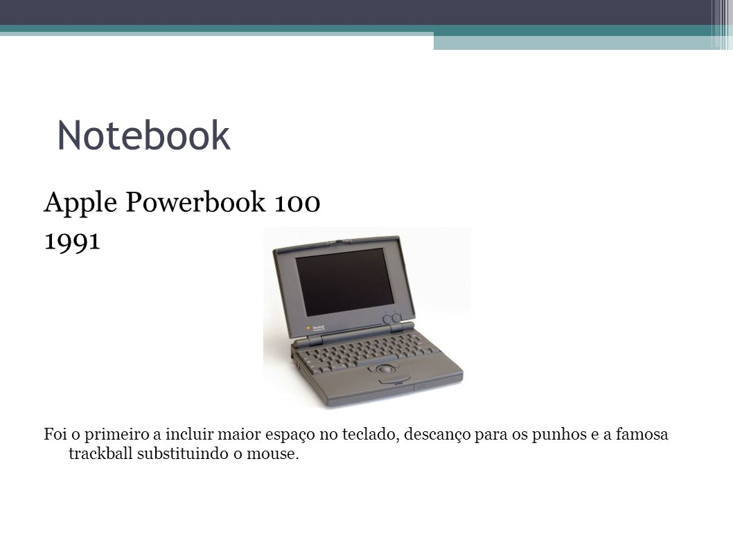 Notebook Apple Powerbook 100 1991