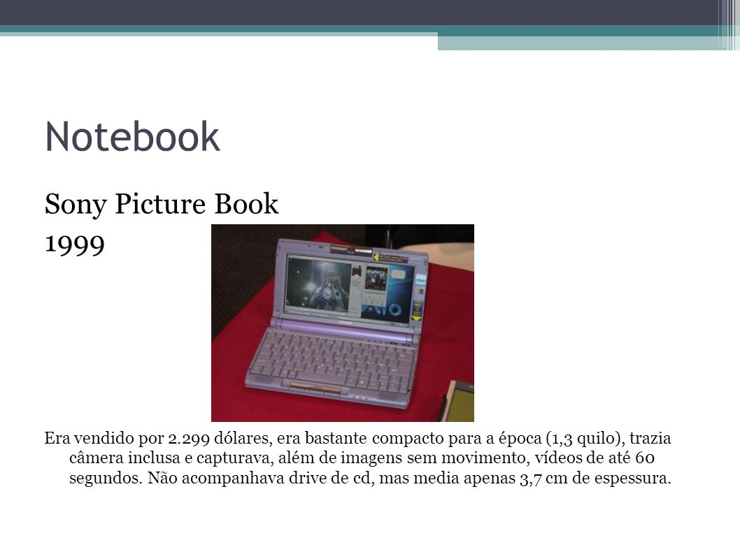 Notebook Sony Picture Book 1999