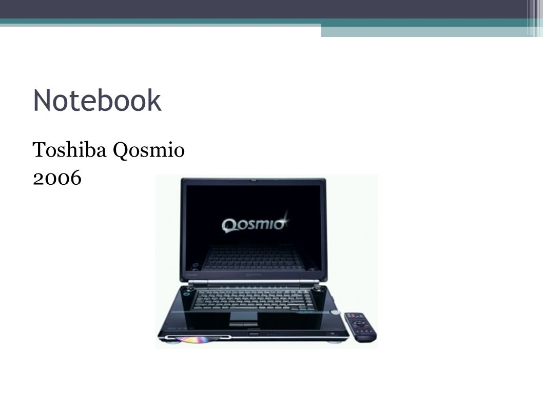 Notebook Toshiba Qosmio 2006