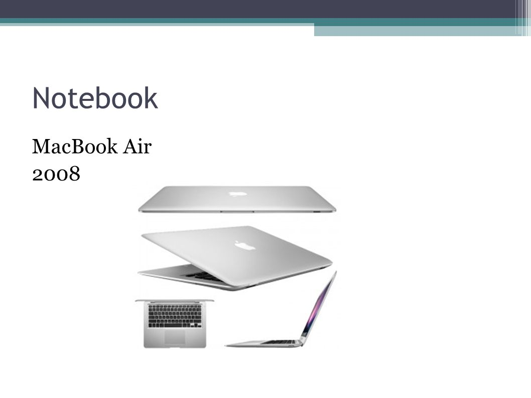Notebook MacBook Air 2008
