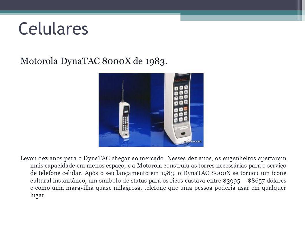 Celulares Motorola DynaTAC 8000X de 1983.