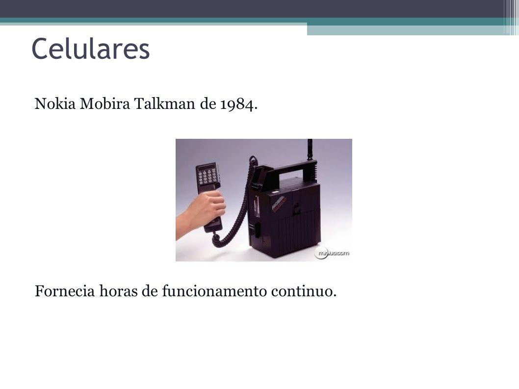 Celulares Nokia Mobira Talkman de 1984.