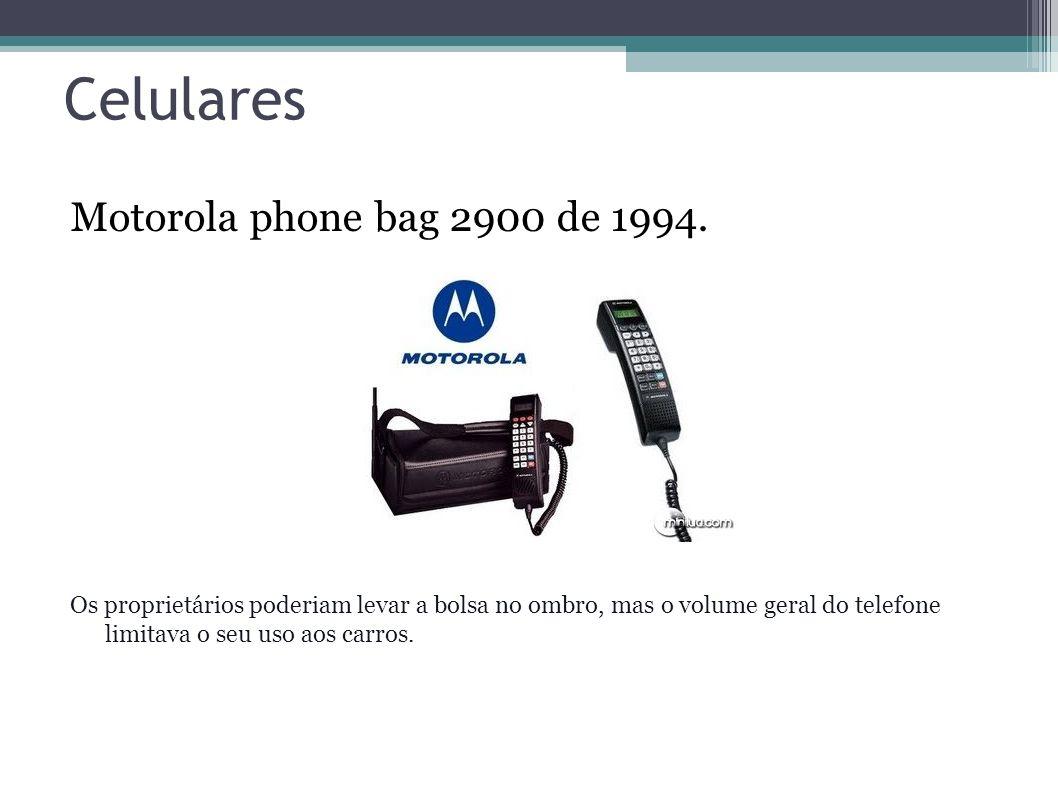 Celulares Motorola phone bag 2900 de 1994.