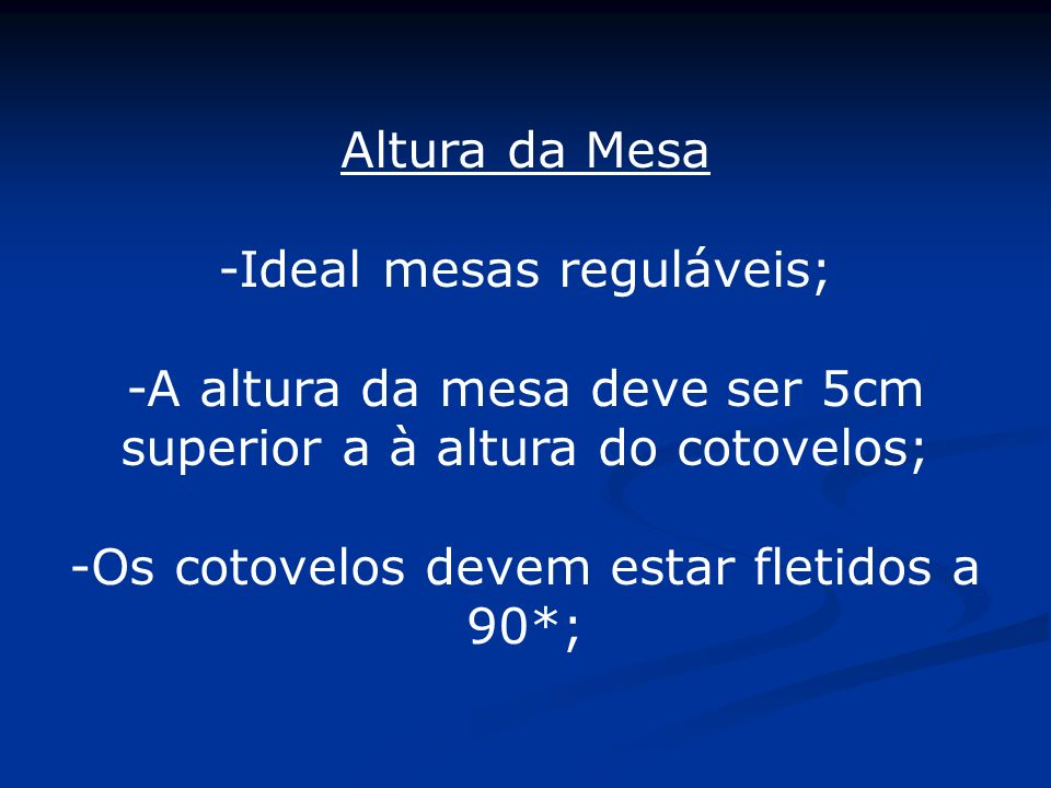 -Ideal mesas reguláveis;