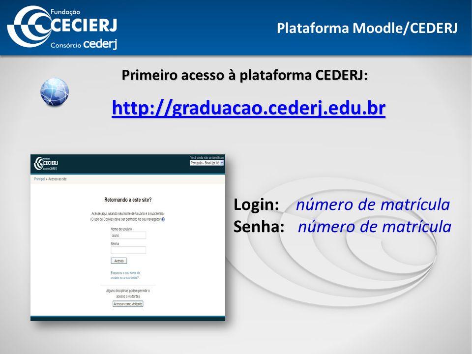 Plataforma Moodle/CEDERJ