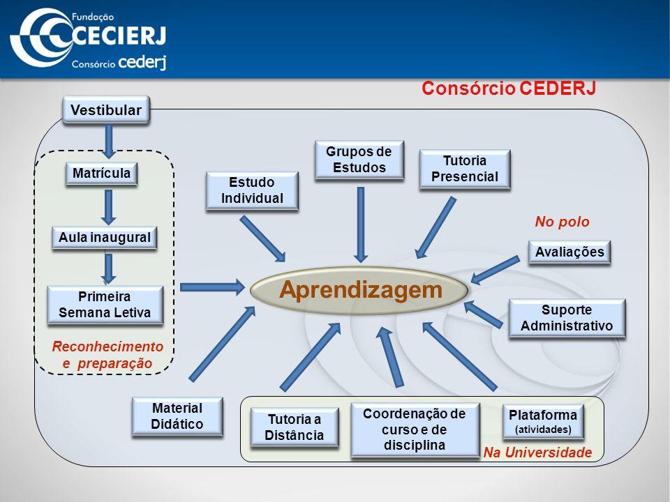 Aprendizagem Consórcio CEDERJ Vestibular No polo