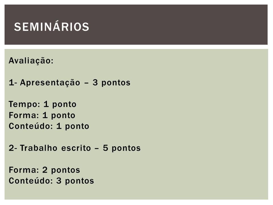 SEMINÁRIOS