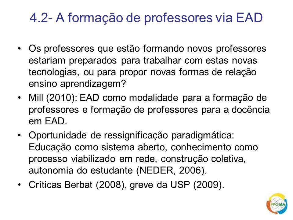 4.2- A formação de professores via EAD