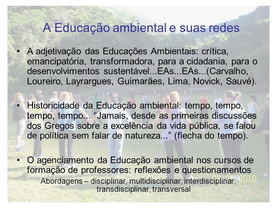 A Educação ambiental e suas redes