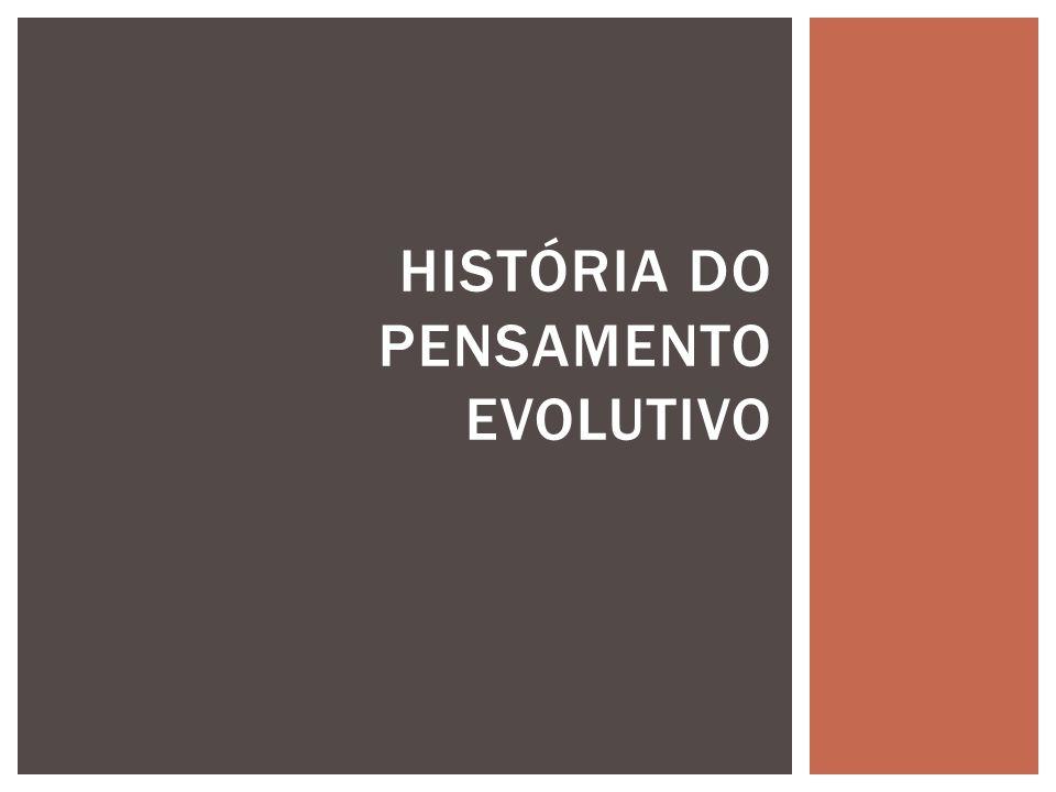 História do pensamento evolutivo