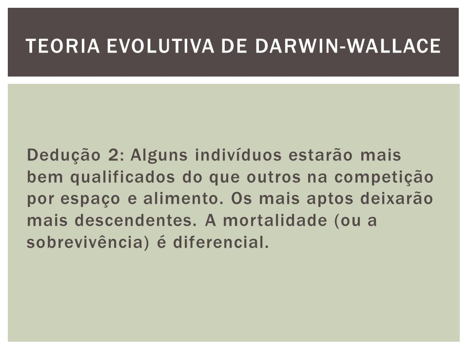Teoria evolutiva de darwin-wallace